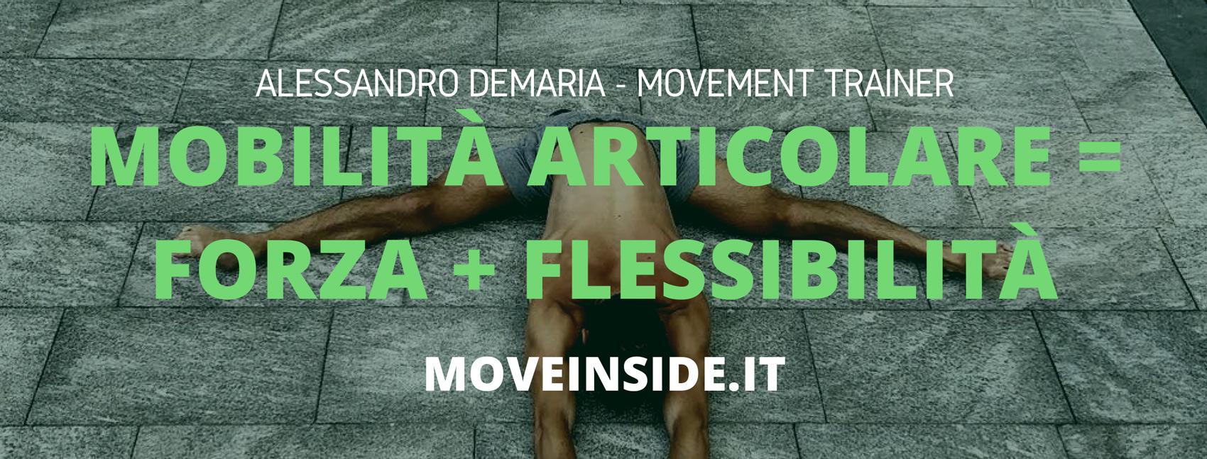 Mobilità articolare = forza + flessibilità